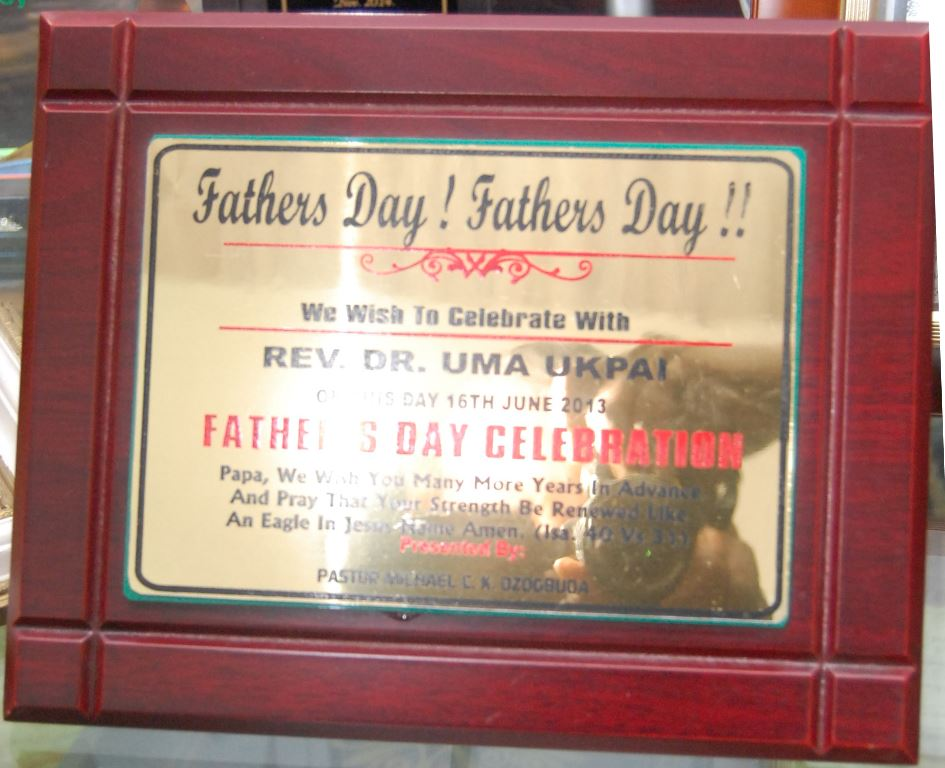 2013 Father\'s Day celebration Presented by Pastor Micheal Ozogbuga